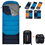 Overmont Upgraded Thickened Camping Sleeping Bag- 3-4 Season Warm Cool...
