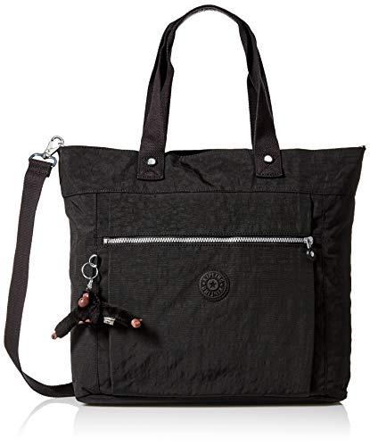Kipling Women's Lizzie Laptop Tote Bag, Removable, Adjustable Crossbody Strap, Zip Closure, black, One Size