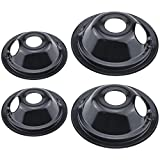 Beaquicy WB31M19 WB31M20 Burner Drip Pan Set 4 Pack - Replacement for Kenmore GE Hotpoint Range