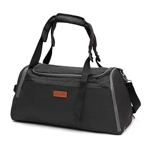 Kkomforme Sporttasche Reisetasche mit Schuhfach & Nassfach für Damen & Herren, Wasserdicht Sport Tasche Fitnesstasche (Schwarz)