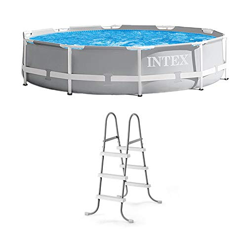 "Intex 10' x 30"" Above Ground Swimming Pool w/ 330 GPH Filter Pump & Pool Ladder"