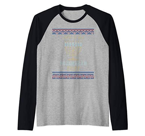 This Is My Pajamakah Shirt Funny Hanukkah Pjs Ugly Sweater Raglan Baseball Tee