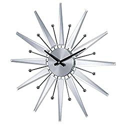 Stilnovo Starburst Wall Clock, Silver