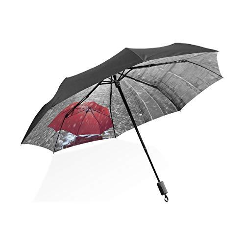 FANTAZIO Reizen Paraplu Eiffeltoren Uitzicht Van De Straat Van Parijs Zon/Regen paraplu