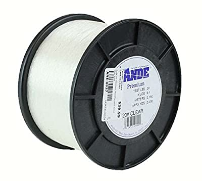 Ande Monofilament Line (Clear, 40 -Pounds Test, 1/4# Spool)