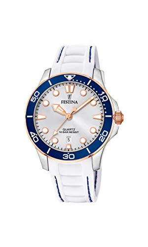 Festina Damen Analog Quarz Uhr mit Silikon Armband F20502/1