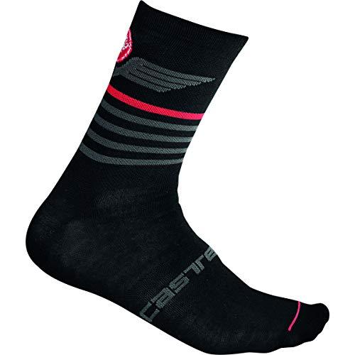 Castelli Lancio 15 Sock Black, L/XL - Hombre
