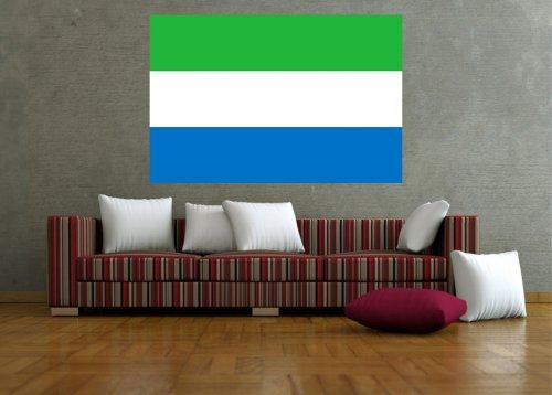 Kiwistar Wandtattoo Sticker Fahne Flagge Aufkleber Sierra Leone 60 x 40cm