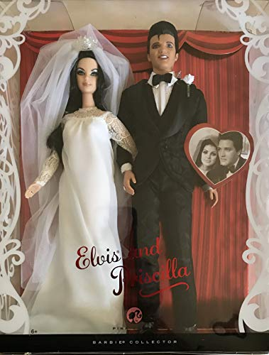 Barbie Collector ELVIS and PRISCILLA Dolls WEDDING DAY Collector SET (2008)