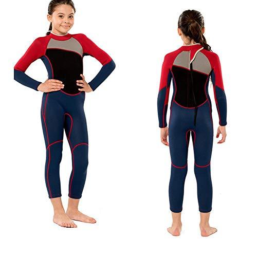 Keen so Traje de Neopreno de una Pieza, Mangas largas, Traje de Neopreno para niña, manténgase abrigado para Practicar Snorkel, Surf M122(12 Size)