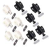 Juego de 10 cierres magnéticos para cajones de armarios, estanterías, armarios de almacenamiento y otros muebles (beige + negro)