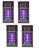 4 Pack Electric Bug Zapper Indoor Plug in Mosquito Killer with UV LED Night Light Electronic Insect Trap for Pests Fruit Flies Flying Gnats