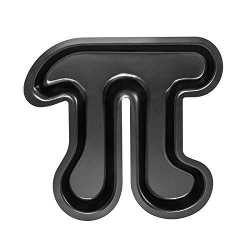 getDigital Pi Kuchenform - Metall-Backform mit Antihaft-Beschichtung für Nerds, Naturwissenschaftler und Mathe Geeks in Form des Symbols der Kreiszahl Pi - Kuchen Backform