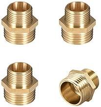 Petsdelite V/álvulas de Bola de lat/ón de 1//4 Pulgadas para Tubo de Agua de 8 mm
