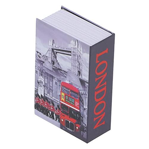 KASD Caja de Seguridad con Forma de Libro de imitación, Caja de Hucha Duradera para Guardar Documentos, Joyas y Otros artículos valiosos