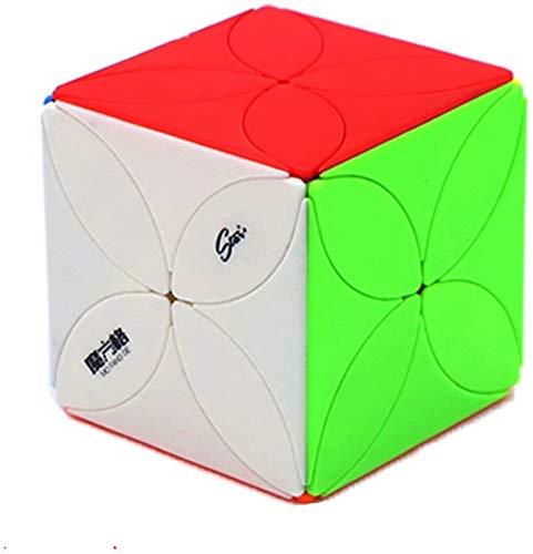 RENFEIYUAN Kreativer unregelmäßiger MA!Lucky Clover Series Rand, der glatt dreht magischer würfel (Color : Color)