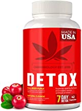 Complete Body Cleanse - Made in United States - Natural, Healthy Cleansing Support for Liver, Urinary Tract, Kidney, Digestive System - 42 Vegan Caps