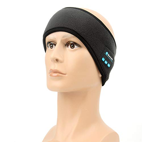 InChengGouFouX Fitness-oefening haarbanden draadloze Bluetooth hoofdband wireless sport hoofdband slaap hoofdtelefoon hardlopen koptelefoon met microfoon voor mannen vrouwen