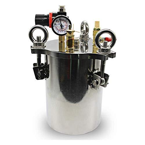 HYLH Dispensador de Acero Inoxidable Depósito de presión Cubo dispensador de Fluido (10L)