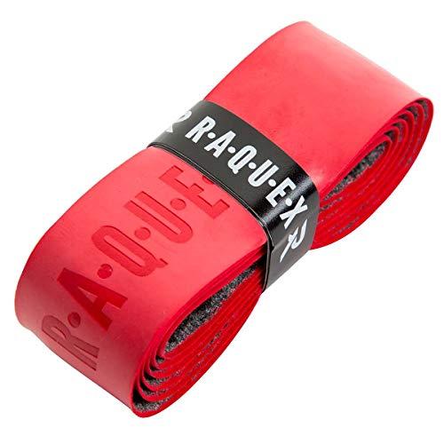 Raquex Ersatz-Griffband, aus Polyurethan, Schlägergriffband für Tennis, Squash oder Badminton (Rot, 1 Griffband)