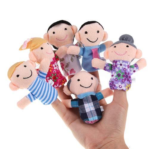 LOVEYue 6 Stück/Set Baby Kinder Familie Fingerpuppen Pädagogische Geschichte Spiel Handspielzeug, Perfekt Am Besten Für Kindergeburtstag