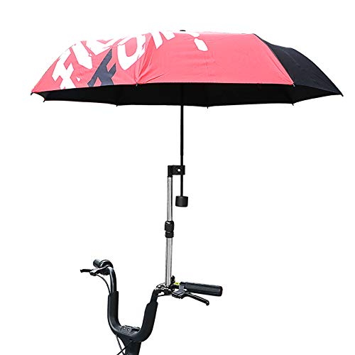 Cayanmydery Bicycle Mount Holder Umbrella Bar Holder Wheelchair Baby Chair Bike Umbrella Frame Stand Handle Umbrella Connector Stroller Holder Moped Bike Mount Holder for Sunny Rain Umbrella
