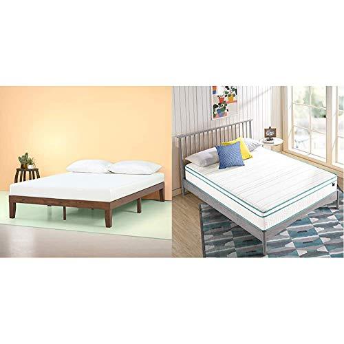 Zinus Marissa 12 Inch Wood Platform Bed with ZINUS 10 Inch Memory Foam Spring Hybrid Mattress