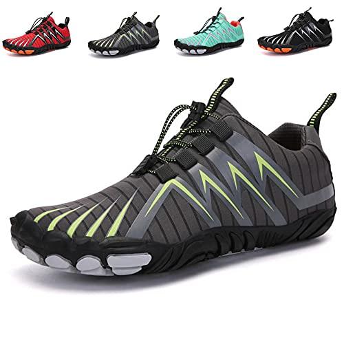 MIAOML Zapatillas Hombre Zapatillas Running Hombre Sneakers Zapatos Hombre Zapatillas Deportivo Hombre Zapatillas Casual Zapatos para Caminar Transpirables,Gray-45码
