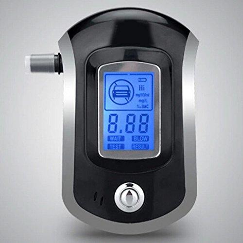 Alkoholtester, LESHP Professionelle Atemalkohol-Tester Analyzer Detector Atemalkohol-Tester mit LCD Display & 5 Mundstücke