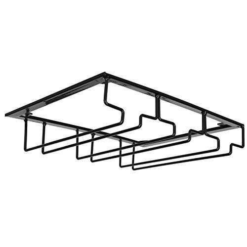 Omabeta Organizador de Metal de Hierro Estante de Vidrio Colgante Estante de exhibición de Vidrio Restaurante Vertical para(3 Slot Length 30cm Width 22.5cm Black)