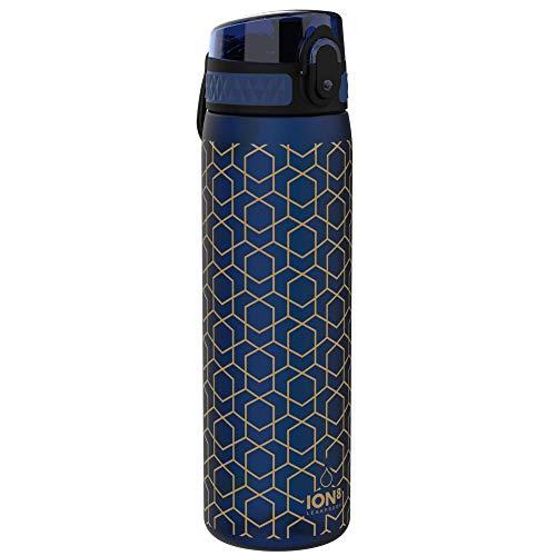 ion8 auslaufsichere Schlanke Trinkflasche, Geometrisch, 500ml