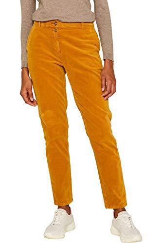 edc by ESPRIT Damen 099Cc1B048 Hose, Gelb (Amber Yellow 700), W34/L30(Herstellergröße: 34/30)