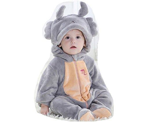 OHmais Bébé Fille garçon Unisexe Grenouillère Costume Deguisement Combinaison Pyjamas Hiver Scorpion