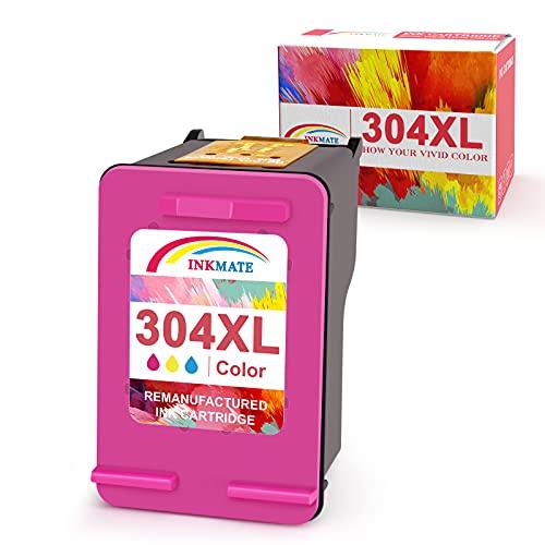 INKMAKE 304 - Cartucho de tinta reciclado para impresora HP 304XL 304 con HP DeskJet 2630 2632 3720 3730 3732 3752 3755 3758, Envy 5010 5030 5032 (2 negro y 1 color)