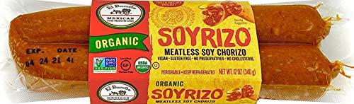 El Burrito, Organic Soyrizo Meatless Soy Chorizo, 12 oz