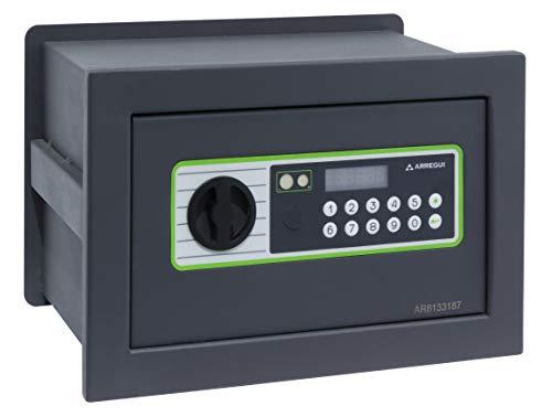 Arregui Supra 241110 Caja fuerte de empotrar, 6 mm de espesor, apertura electrónica, con fondo regulable, 21x32x15 a 25 cm, 5 a 11 L
