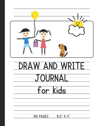 Draw and Write Journal for Kids: 100 Pages, Large 8.5x11 inch