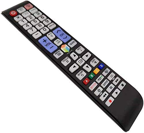 Universal Remote Control for Samsung TV Remote Control fits for All Samsung LED HDTV Smart TV with Netflix Amazon Button and Backlit - No Setup Needed