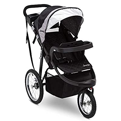 Jeep Deluxe Patriot Open Trails Jogger by Delta Children, Charcoal Tracks by AmazonUs/DEMQX