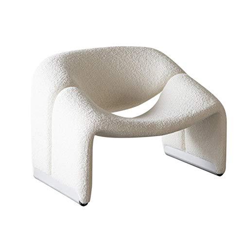 YANGDONG Sofá De Diseño Simple Y Creativo, Sofá Y Silla En Forma De M, Lana De Cordero Blanco, Suave Y Cómodo, Muebles para El Hogar