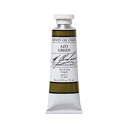 M. Graham Artist Oil Paint Azo Green 1.25oz/37ml Tube