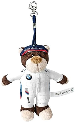 Genuine Motorsport Teddy Bear Keyring Brown/White