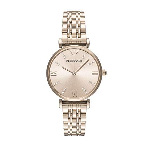 Emporio Armani Damen-Uhren Analog Quarz One Size Edelstahl 87315631