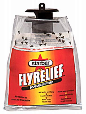 Starbar 100523457 Fly Relief Bag Trap, Disposable - Quantity 12