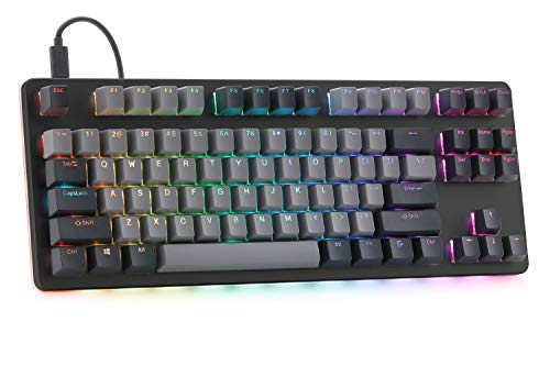 Drop CTRL Mechanical Keyboard — Tenkeyless TKL (87 Key) Gaming Keyboard, Hot-Swap Switches, Programmable Macros, RGB LED Backlighting, USB-C, Doubleshot PBT, Aluminum Frame (Cherry MX Brown, Black)
