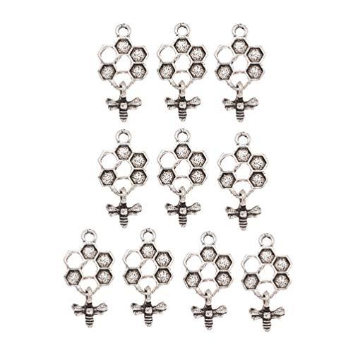 Abeille en bois couleur-en Porte-clés Assortiment de 6 en bois design attaché à Métal Porte-clés
