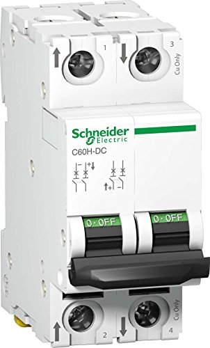 Schneider Electric A9N61531 Interruptor Automático Especial de CC, C60H, 500 V, 2P, 16 A, curva C