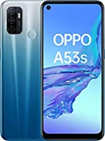 "OPPO A53s Smartphone, 186 g, Display 6.5"" HD+ LCD, 3 Fotocamere 13 MP, RAM 4 GB + ROM 128 GB Espandibile, Batteria 5000 mAh, Ricarica Rapida, Dual Sim, [Versione Italiana], Colore Fancy Blue"