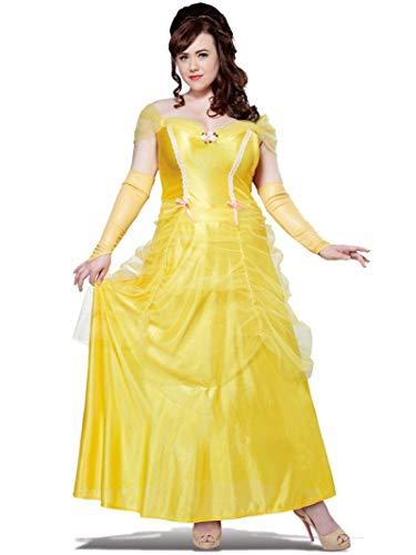 Plus Size Classic Beauty Costume 2X Yellow