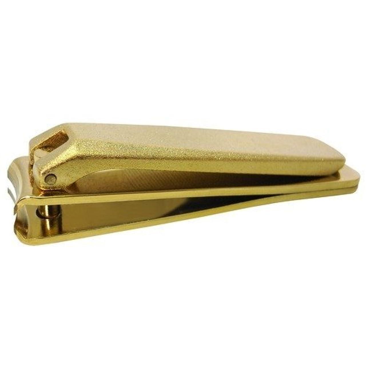 マインドフル汚染する古いKD-029 関の刃物 ゴールド爪切 大 カバー無